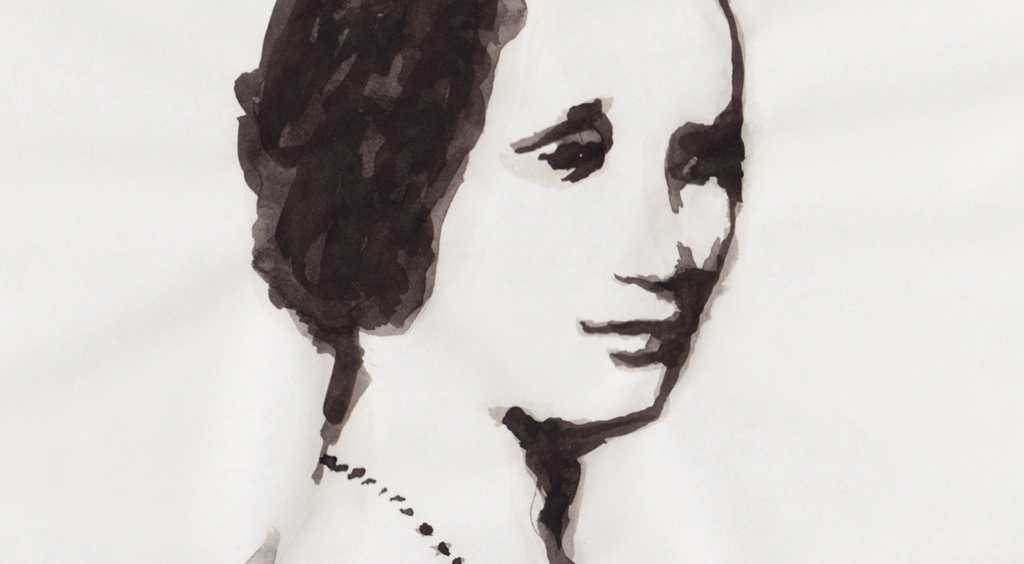 Aquarellportrait: »Portrait Ada Lovelace